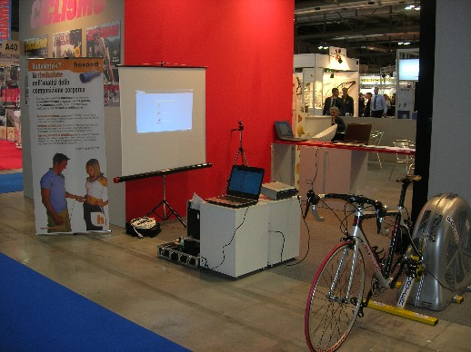 Ciclomulino ospitato nello stand della rivista Ciclismo