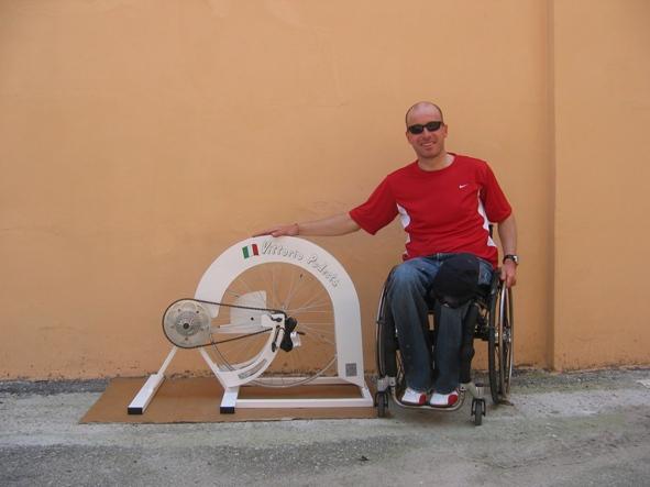 Consegna Ciclomulino a Vittorio dopo la maratona di Padova 2008